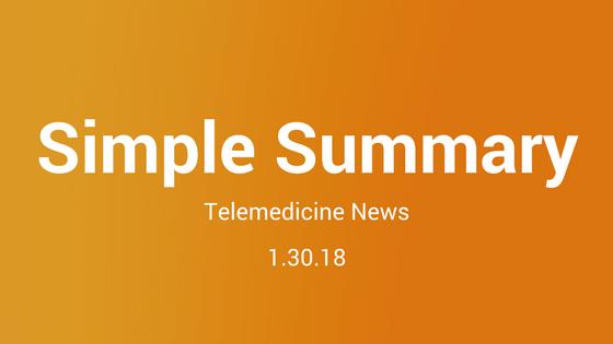 Simple Summary: Telemedicine News